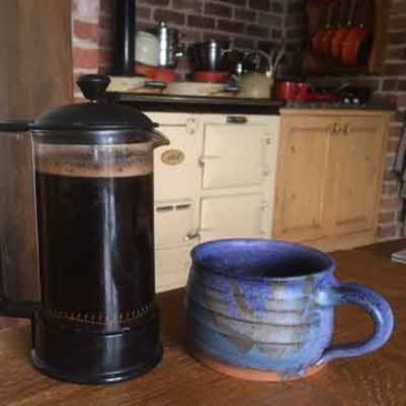 coffee pot and mug