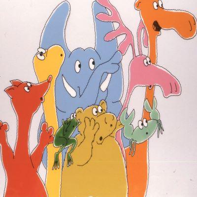 Colourful cartoon animals